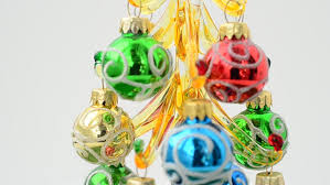 ornaments falling and bouncing motion stock