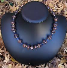 gold stone necklace images Blue and brown goldstone necklace w gold accents stonewyre jpg