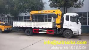dfac 6 3tons sq6 3sk3q truck mounted crane for sale youtube