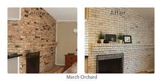 interior brick wall fireplace how do you whitewash brick