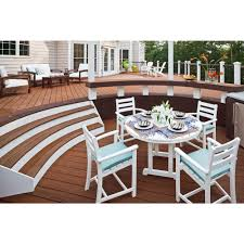 Patio Dining Furniture Ideas Furniture Polywood 5 Piece Monterey Bay Dining Set By Trex