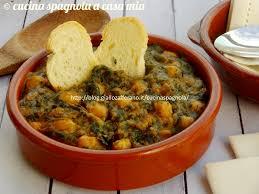 giallo zafferano cucina vegetariana spinaci con ceci alla sivigliana ricetta tapa vegetariana