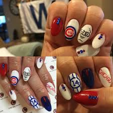 chicago cubs nails manicure from cync nail salon in torrance ca