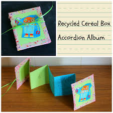 recycled craft cereal box accordion album kix cereal