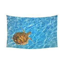 interestprint tortoise home decor wall art ocean underwater world