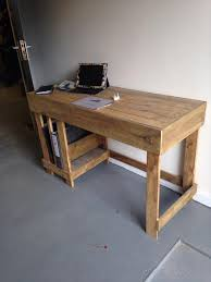 Diy Wood Desk Diy Wood Pallet Office Computer Desk Pallet Furniture Plans