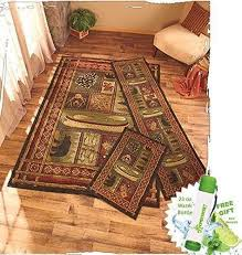 accent rugs and runners gift included lodge themed decorative kitchen jute accent rug