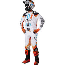 fox racing motocross fox racing 2017 mx new v2 rohr white orange blue dirt bike
