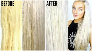 What Shampoo To Use For Hair Extensions by How To Get Silver Hair At Home Fix Brassy Hair Youtube