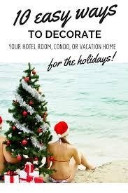 10 easy ways to decorate your hotel room for the holidays