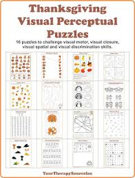 visual perceptual printables for thanksgiving freebie your