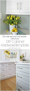 Kitchen Cabinets Made Easy Diy Cabinet Hardware Template Hardware Installation Made Easy