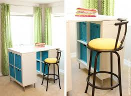 counter height craft table make a counter height craft table from 2 shelves a table top and