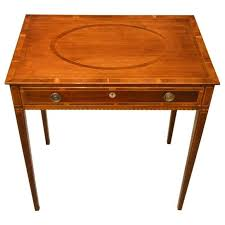 Yew Side Table Mahogany And Yew Wood Inlaid Early 19th Century Side Table For