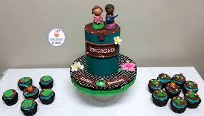 Tropical Themed Cake - cake decor in cairns aloha luau tropical engagement cake