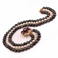 jewelry making necklace clasp images Multi strand pearl ruby diamond necklace clasp pin brooch at 1stdibs jpg