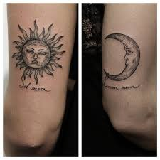 collection of 25 moon and sun tattoos