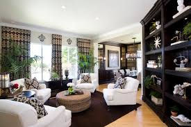 modern traditional living room dining room with modern traditional styling