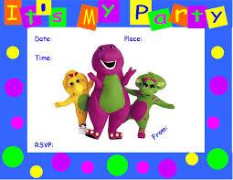 barney birthday party invitations cimvitation