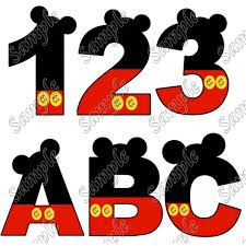 personalized iron on transfers mickey mouse alphabet letter or