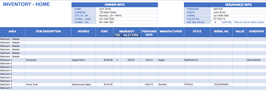 Simple Inventory Sheet Template Free Excel Inventory Templates