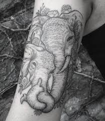 elephant tattoo done at lone wolf private studio in columbus ohio