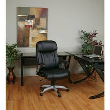 Office Chair Black Leather Work Smart Black Eco Leather Executive Office Chair Ech38665a Ec3