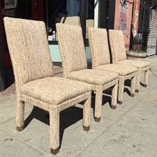 bake me a cake four fully upholstered dining chairs by henredon
