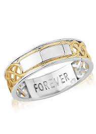 commitment ring personalised gold plated silver mens forever commitment ring by