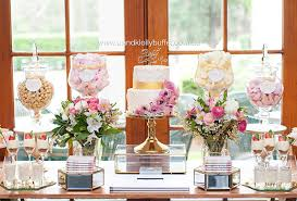 Buffet Table Sydney Love Is Sweet U201d Floral Pastel U0026 Gold Themed Wedding Dessert Table