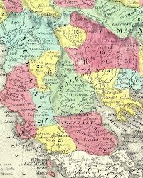 Balkans Map Map Of Turkey In Europe U201d Balkans C 1854 Cowperthwait M 5217
