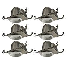 utilitech 3 inch recessed lighting lowe s utilitech aluminum recessed light kit 6 pack 16 80 ymmv
