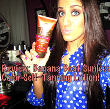 All Natural Sunless Tanning Lotion Review Banana Boat Summer Color Sunless Tanning Lotion Youtube