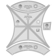 wonderfull double wedding ring quilt pattern templates innovation