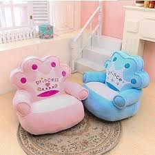 princess crown kids toddler sofa couch children chair armchair