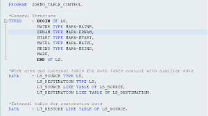 types of table ls the abap manipulation of table control