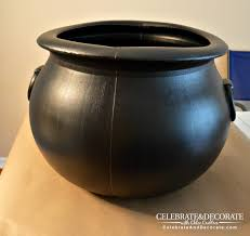 halloween urn decorations what is brewing with this creepy cauldron celebrate u0026 decorate