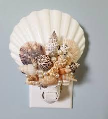 seashell night light beach decor nautical decor shell night