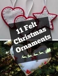 Felt Heart Christmas Ornaments 14 Felt Christmas Ornaments To Make Allfreechristmascrafts Com