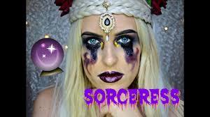 Sorceress Makeup For Halloween by Halloween Dark Sorceress Makeup Tutorial Youtube