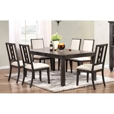 espresso 7 piece 60x42 rectangular dining room set in espresso