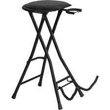 Guitar Bar Stool On Stage Dt7500 Guitarist Stool With Integrated Guitar Dt7500