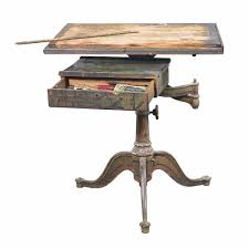 Iron Drafting Table Al Hirschfeld S Painted Wood And Iron Studio Drafting Table For