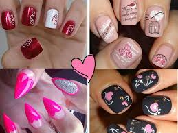trendy valentine u0027 day nail art ideas