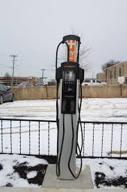 electric car charging stations installed at elkton parking lot