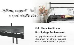 amazon com metal bed frame full size greenforest two headboards