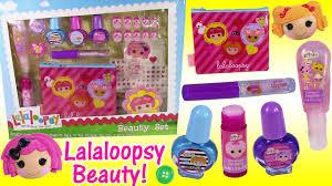 lalaloopsy beauty set nail polish tons of lip gloss lip balm
