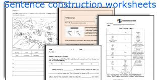 english teaching worksheets sentence construction