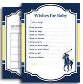 polo baby shower boy polo memory for baby shower printable card for baby polo