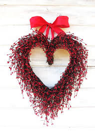 Etsy Valentines Day Decor by Wedding Decor Wedding Wreath Mothers Day Gift Red Heart